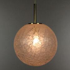 Doria Hänge Lampe Glas Kugel Frost Ø30 60er 70er Jahre alte Pendel Leuchte Kroko