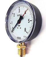 """Manometer 1//2/"""" Anschluss unten radial 0-25 bar 80 mm Wasser Gas Luft Heizung"""