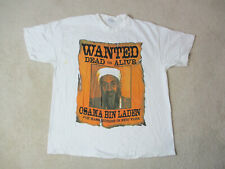 VINTAGE Osama Bin Laden Shirt Adult Extra Large White Support The Troops 90s *
