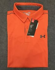 Under Armour * UA Leaderboard Golf Polo Shirt Orange for Men Large