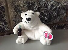 Vintage# Coca Cola Plush White Bear 6 Inches New With Tag