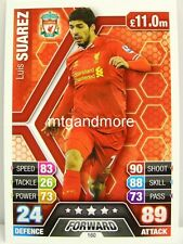 Match Attax 2013/14 Premier League - #160 Luis Suarez - Liverpool