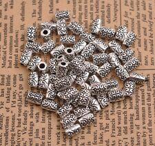 50/100PCS Tibetan silver big hole 2.5MM flowers Charms spacer beads B3085