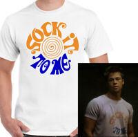Fight Club T-Shirt Sock it to me Mens Tyler Durden Movie Unisex Top Brad Pitt