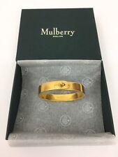 Mulberry Bayswater Metal Slim Bracelet Bangle - New Brass/Gold - S RRP £250 New