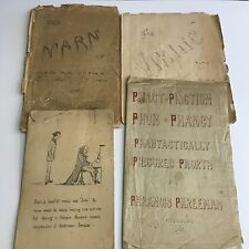 Collection Of Manuscripts Story's Etc., Hand Written / Sketched Francis Freeman