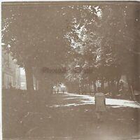 Neris-Les-Bains Francia Foto Stereo PL59L1n28 Placca Da Lente Vintage c1926