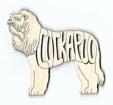 Cockapoo Dog laser cut and engraved wood Magnet