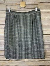 Peabody House Vintage Skirt Size 11/12 Pleated Gray Zip Side