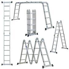 125195ft Multi Purpose 1220 Steps Platform Aluminum Folding Scaffold Ladder