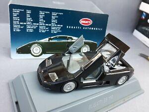 BUGATTI EB110 1/43 Scale BLACK REVELL 1994 4in Diecast MODEL CAR  * SUPERB *