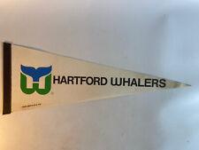 Nhl Hartford Whalers Vintage Defunct 1980's G.Fox Team Logo Hockey Pennant