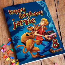 SCOOBY DOO Personalised Birthday Card! FAST 1st Class Shipping!
