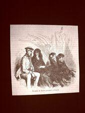 Incisione di Gustave Dorè del 1874 Palco al Teatro Principal Siviglia Spagna