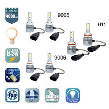 9005 + 9006 + H11 6pcs LED Headlights Hi/Low Beam Bulbs 6000K Fog Light 3 Pairs