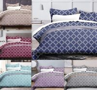 Geometric Cotton Bedding Set Quilt Doona Duvet Cover Set Double Queen King Size