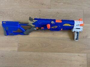 NERF Gun N-Strike Longstrike CS-6 Dart Gun Blaster with an EXTRA NERF piece