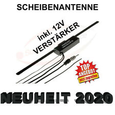KFZ FM Autoradio Auto Antenne Scheibenantenne + Verstärker