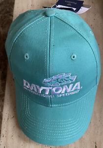 Daytona International Speedway Nascar Hat Baseball Cap Size M/L NWT Blue