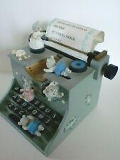 Spieluhr Schreibmaschine und Bärchen Holz Spieldose Sammlerobjekt