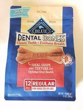 Blue Buffalo Dental Bones Natural Adult Dental Chew Dog Treat Regular 12-oz bag