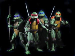 N.E.C.A 1990 Teenage Mutant Ninja Turtles Movie (TMNT) 1/4 Scale Turtle Set of 4
