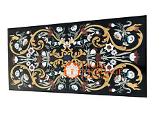 5'x3' Black Counter Height Dining Table Top Beautiful Inlay Unique Design E864A