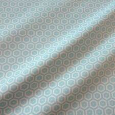 Stoff Meterware Baumwolle Waben mint ecru retro Muster aus Frankreich Meterpreis