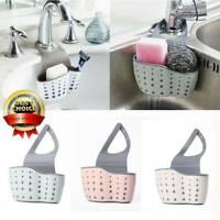 Hanging Drainer Basket Sink Shelf Soap Sponge Drain Rack Bathroom Holder