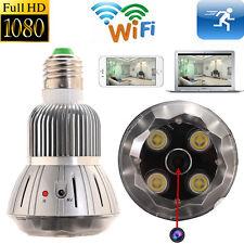 New 1080P WIFI SPY LED Light Bulb Camera Wireless Motion Detection Videorecorder