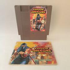 Nintendo NES - Shadow Warriors Ninja Gaiden PAL B + Manual