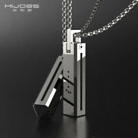 Stainless steel Magnetic Necklace Chain Pendant Accessory Case For Fitbit Flex 2