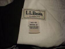Men's L.L. Bean Green 44 x 32 Herringbone Pattern Heavy