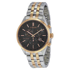 Citizen Sapphire Collection Eco-drive Black Dial Two-tone Quartz Mens Watch