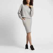 nike lab essentials fleece crew jumper womens Size M Grey 848735 050