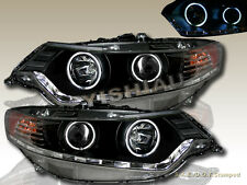 Fit For ACURA TSX 09-12 PROJECTOR CCFL DUAL HALO HEADLIGHTS W/LED BLACK R8 STYLE