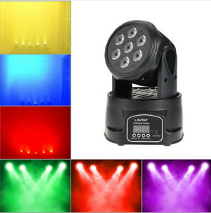 Lixada Testa mobile 70W 4 In 1 RGBW Mini Moving Head LED Stage Light DMX