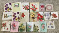 Vintage Lot of 1940's & 50'sGreeting Cards, Birthday, Easter & More Lot of 20