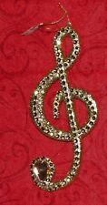 Gold Glitzy Rhinestone G/Treble Clef Music Christmas Ornament Pier 1 Imports