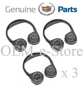 2017-2020 Cadillac Escalade ESV Platinum 3 Headphones for Overhead DVD System