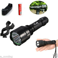 New Ultrafire 2600LM Tactical C8 CREE XM-L XML T6 LED Flashlight Torch + Bracket
