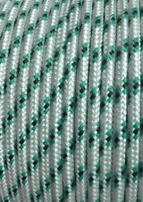 30m x 6mm GREEN BLACK Rope - Double Braid Polyester for Yacht Boat & Marine