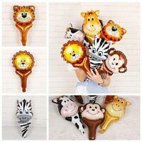 Toys Safari Jungle Animal Head Tiger Lion Monkey Giraffe Cow Foil Balloon