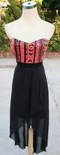 NWT WINDSOR $85 Black / Multi Homecoming Party Gown 11