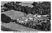 POSTCARD  DEVON   EGGESFORD  Fox and  Hounds  Hotel  Aerial  View   RP