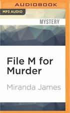Cat in the Stacks Mysteries: File M for Murder by Miranda James (2016, MP3...