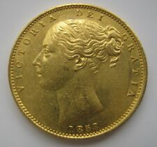 1853 VICTORIA GOLD SOVEREIGN WW in relief EF or better