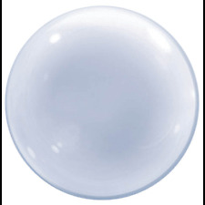 "BUBBLE BALLOON 24"" DECO CLEAR QUALATEX BUBBLE BALLOON"