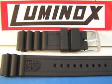 Luminox Watchband Heavy Duty Series 3000 Navy Seals Strap. 22mm Black Rubber