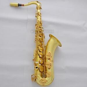 Customized Professional  Tenor Saxophone Raw Brass Bb Saxofon With Case